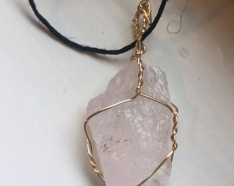 White calcite pendant necklace