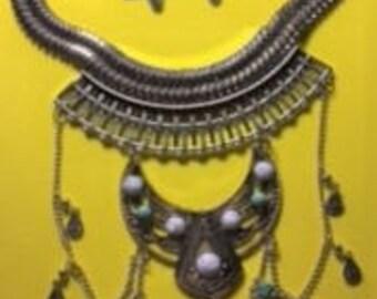 Choker Style Turquoise Necklace Set