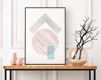Scandinavian Print, Urban Artwork, Marble Wall Print, Abstract Art Poster, Geometric Art Print, Extra Large Wall Art