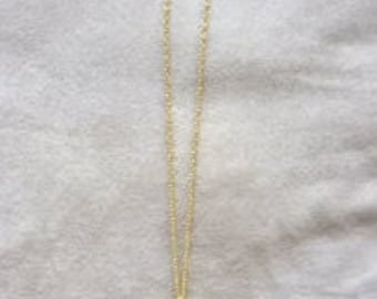 Gold circular necklace