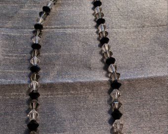 Sterling Silver Crystal Beaded Necklace