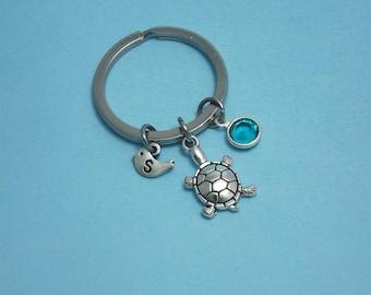 Turtle key ring Sea turtle keychain Turtle keyring Turtle gifts for her Tortoise keychain Sea turtle key chain Turtle charm keyring charms