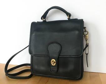 Vintage Coach Station Bag, Coach Bag, Coach Purse, Coach 5130, Black Coach Bag, Coach Crossbody Bag, Coach Leather Purse, Black Leather