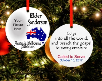 Australia Missionary Ornament*LDS Missionary Ornament*Missionary Gift*LDS Missionary*Christmas Ornament*Missionary Christmas Gift*LDS Gift