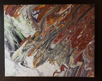 Fluid Acrylic Pour on Canvas