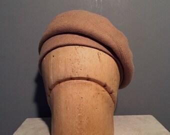 BONNIE Beret - Caramel Wool