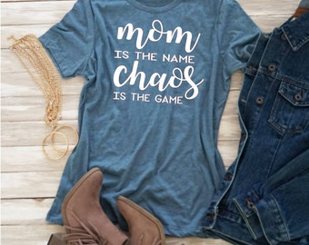 Mom is the name Chaos is the Game Svg, Mom Life Svg, Funny Svg,Dxf,Png,Jpeg