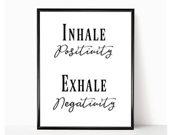 Positive Quote Mesmerizing Positive Print  Etsy
