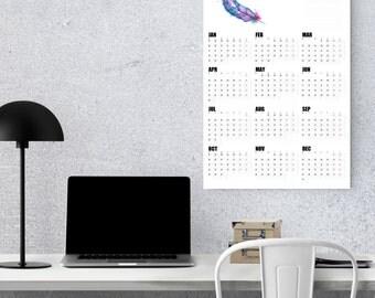 wall planner 2018, wall calendar 2018, yearly calendar, family planner, large calendar, office calendar, goal tracker, 2018 goal planner