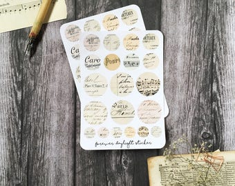 "Planner Stickers ""Time Travel Letters"" 