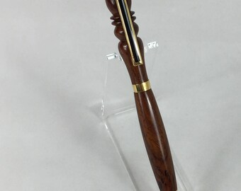 Cocobolo Handcrafted Detailed Wood Pen #105  w/ Box