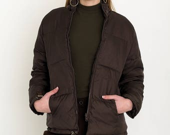 VINTAGE Brown Bomber Retro Jacket