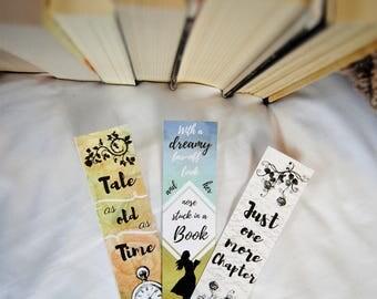 Bibliophile Belle Bookmarks (Set of 3)