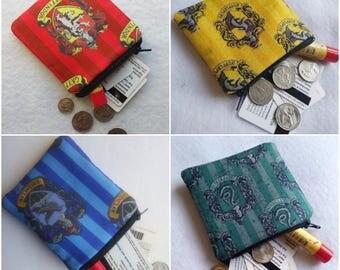 Harry Potter Hogwarts House Crest Wallet Pouches/Coin Purses