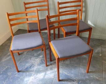 Vintage Danish Dining Chairs | Am Mobler | New Upholstery | Mid Century Scandinavian