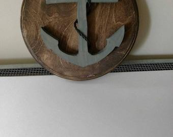 Anchor Wooden Wall Art