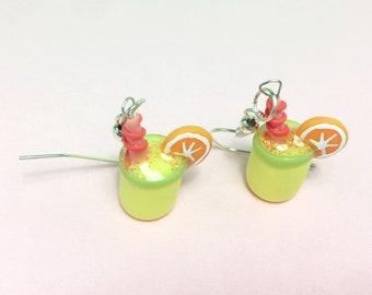 Lemonade earrings, cold porcelain earrings, gift earrings, earrings for her, modern earrings, Mexican earrings, handmade earrings