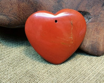 Natural Flame Red Jasper Heart