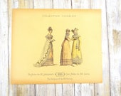 Antique 1818 Fashion Plate by Collection Geszler