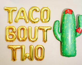 TACO BOUT 2 Balloons,Taco Bout Two, Taco Birthday Party, Taco 2nd Bday,Taco Birthday Party,Taco Theme,Taco Bout It,Two Balloons,Taco Twosday