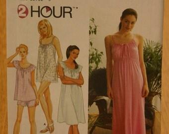 Simplicity Misses Sleepwear Pattern 9202 Sizes XS-S-M