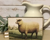 Vintage Sheep Sign,Primitive Sign,Farmhouse Decor