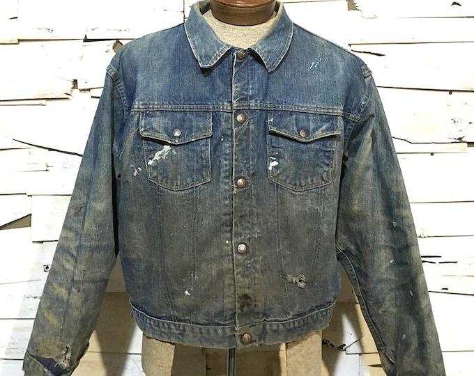Vintage 60's Madewell Snap Button Denim Jacket - Medium