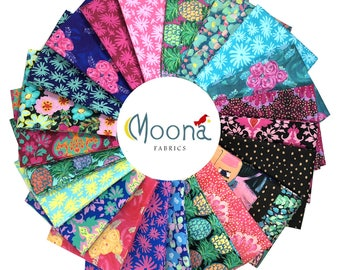 JUDITH'S FANCY Fat Quarter Bundle Jennifer Paganelli, Woodland Baby Quilt Fabric, Pineapple Decor, Bold Floral Fabric, Cotton Quilt Fabric