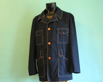 1960's Men's Windbreaker Jacket by Permanent Press The Promenader - Size L