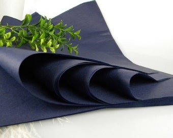 24 Navy Tissue Paper Sheets | Solid Color Sheets | Gift Wrap Tissue | Luxury Packaging | Craft Tissue | Soft Collection | Navy Wedding Decor