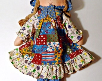 Holly Hobbie Doll Vintage Holly Hobbie Cloth Doll Knickerbocker