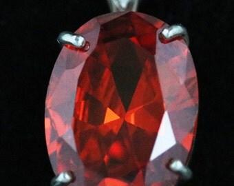 Padparadsha Sapphire Pendant 4 prong silver bezel 39.5ct