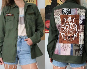 Sister of the Moon US Army Jacket - Vintage, Feminist, Patchwork