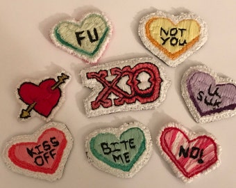 Homemade Valentine Patches