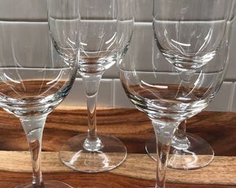 Noritake Troy Crystal Water Goblets set of 4