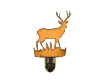 Deer Rusty Metal Image Style Night Light