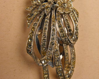 Vintage Dress Clip Rhinestone chatons
