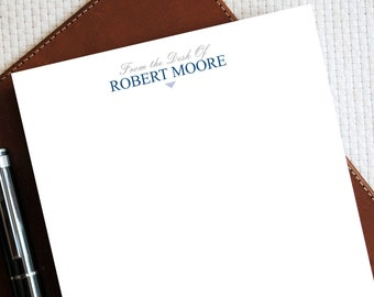 personal letterhead from the desk of