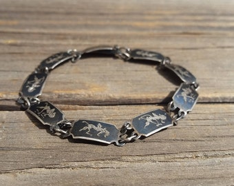 Vtg Siam Sterling Silver Balinese Bracelet