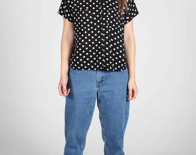 Polka Dot Crop Shirt