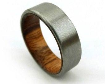 Goncalo Alves Ring, Brazilian Tigerwood, Brazilian Wood Ring, Tigerwood Ring, Interesting Jewelry, Unique Handmade, Jobillo Ring, GJG