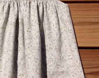 Dress girl baby cotton 100% summer / green & grey flower dress