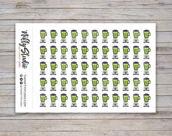 Green Smoothie Stickers | Nutrition Stickers | Planner Stickers | The Nifty Studio [162]