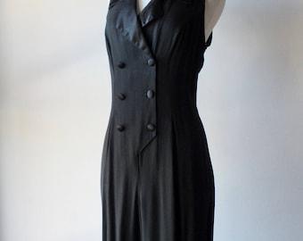 Vintage tuxedo pantsuit + 1990s power suit