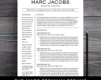 Modern Resume Template   CV Template For Pages, Word Professional Design,  Free Cover Letter  Modern Professional Resume