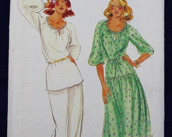 1970's Sewing Pattern for a Woman's Dress, Tunic & Trousers in Size 12 - Butterick 5711