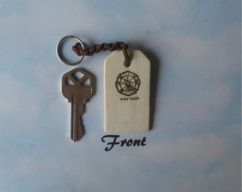 Personalized Firefighter Keychain, Firefighter Gift, Gift for Him, Gift for Her, Firefighter Wife, Firefighter Husband, Fireman Keychain