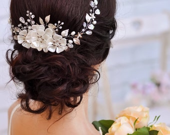 Bridal hair accessories Crystal hair comb Hair comb Bridal hair vine Bridal hair comb Wedding hair comb Bridal hair flower Wedding hair vine
