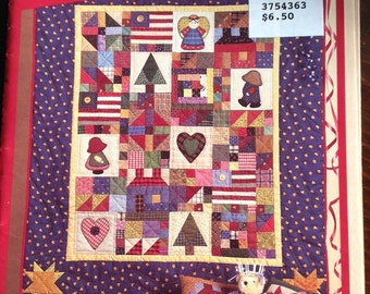 "The Little Quilt Collection, ""Favorites"" small quilts, small quilt, Overall Bill, Sunbonnet Sue, country style small quilt, scrap quilt"