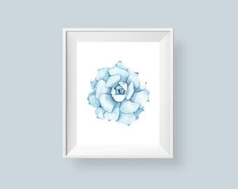 Cactus plant printable cactus printable wall art print for Bathroom decor picture frames